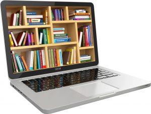 laptop-library-concept