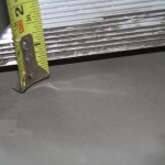 Undulation of sub floor is too much at half inch in two feet.
