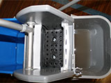 Keep dirty water separate in a two-bucket mopping system.