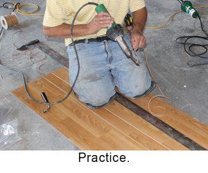 Practice on scrap material