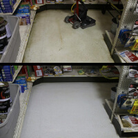 clean floor before & after